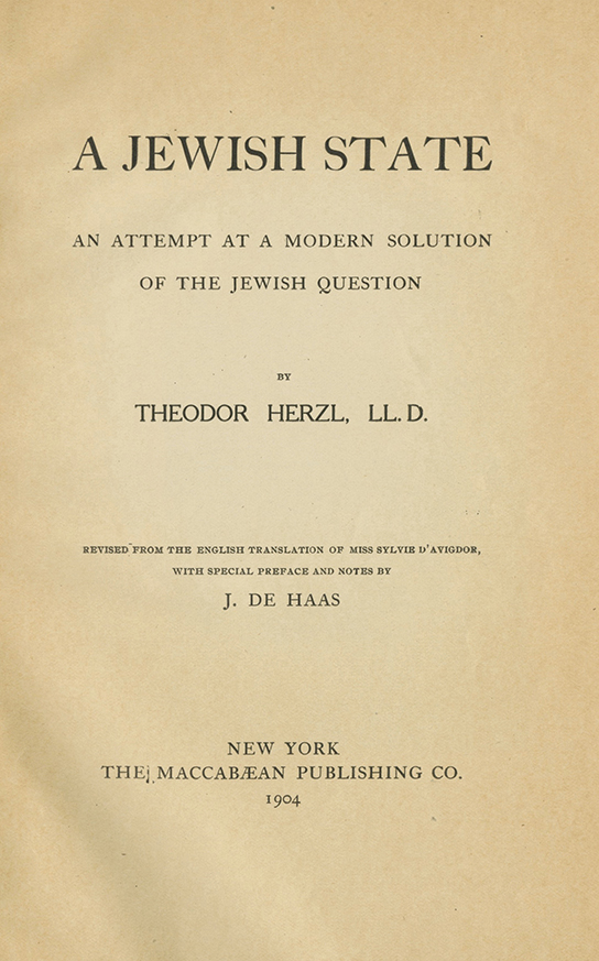 an analysis of the jewish state a book by theodor herzl that inspired the jews to start the zionist  The jewish state (penguin great ideas the zionist idea: a historical analysis and reader herzl's jewish state argues that jews will never be fully accepted as.