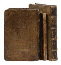 Babylonian Talmud, Cracow, 1604-1605 - Nine Tractates in Three Volumes - Ancient Marginalia - Contemporary Bindings