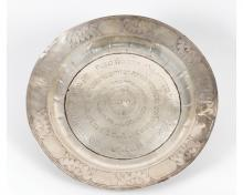 Passover Seder Plate from the Estate of Rabbi Dr. Eliezer Lipman HaCohen, Head of the Wiesbaden Beth Din