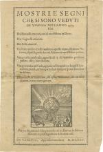 Broadside and Two Printed Compositions - the Venetian Conjoined Twins - Venice and Bologna, 1575-1576