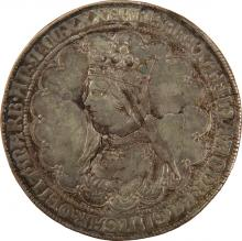 Silver Medal with Portrait of Elizabeth of Hungary - Prague, 17th Century