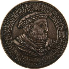 Silver Medal with Hebrew Legend - Henry VIII of England, 19th Century