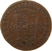 Token Portraying the Battle of Amalek - Holland, 16th Century - Tetragrammaton