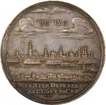 Silver Medal with Hebrew Legend - Breslau, 1700