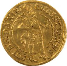 Gold Coin with Tetragrammaton - Denmark, 1647