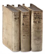 Nevi'im Rishonim, Ezekiel and Trei Asar (Minor Prophets) - Antwerp, 1565 - Miniature Edition - Original Vellum Bindings