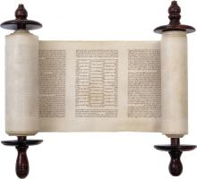 Miniature Sefer Torah - Poland, Early 19th Century